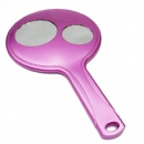 new style 3 way round handle makeup mirror
