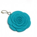 rose shaped single side pocket cosmetic mirror with chain